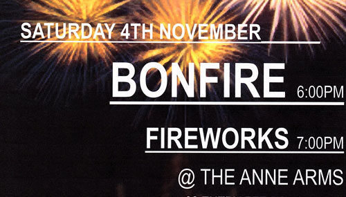 The Anne Arms - Bonfire Night